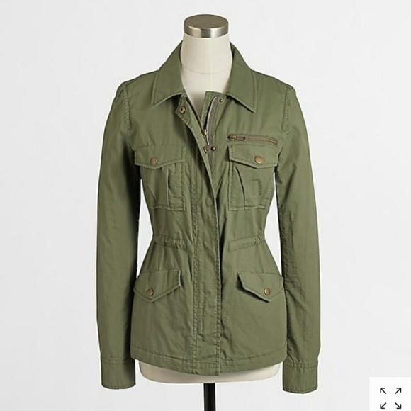 J. Crew Factory Jackets & Blazers - J. Crew Factory Olive Green Ripstop Utility Jacket